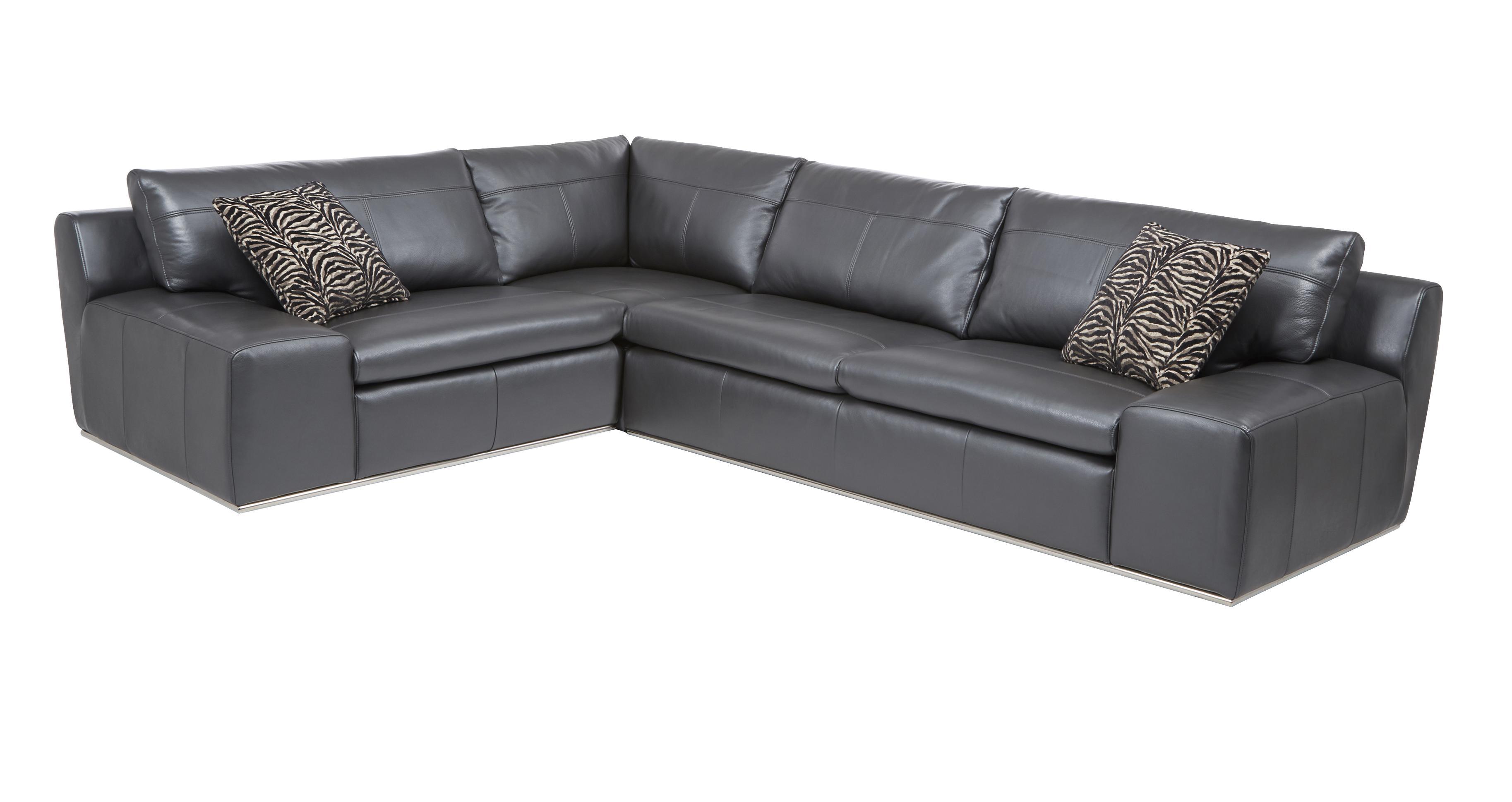Palladium optie d rechtszijdige zits hoekbank fuse leather dfs