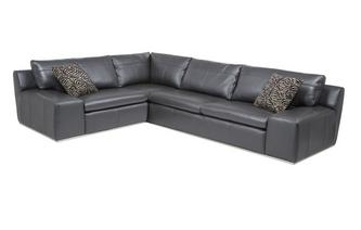 Option D Right Hand Facing 2 Seater Corner Sofa Fuse Leather