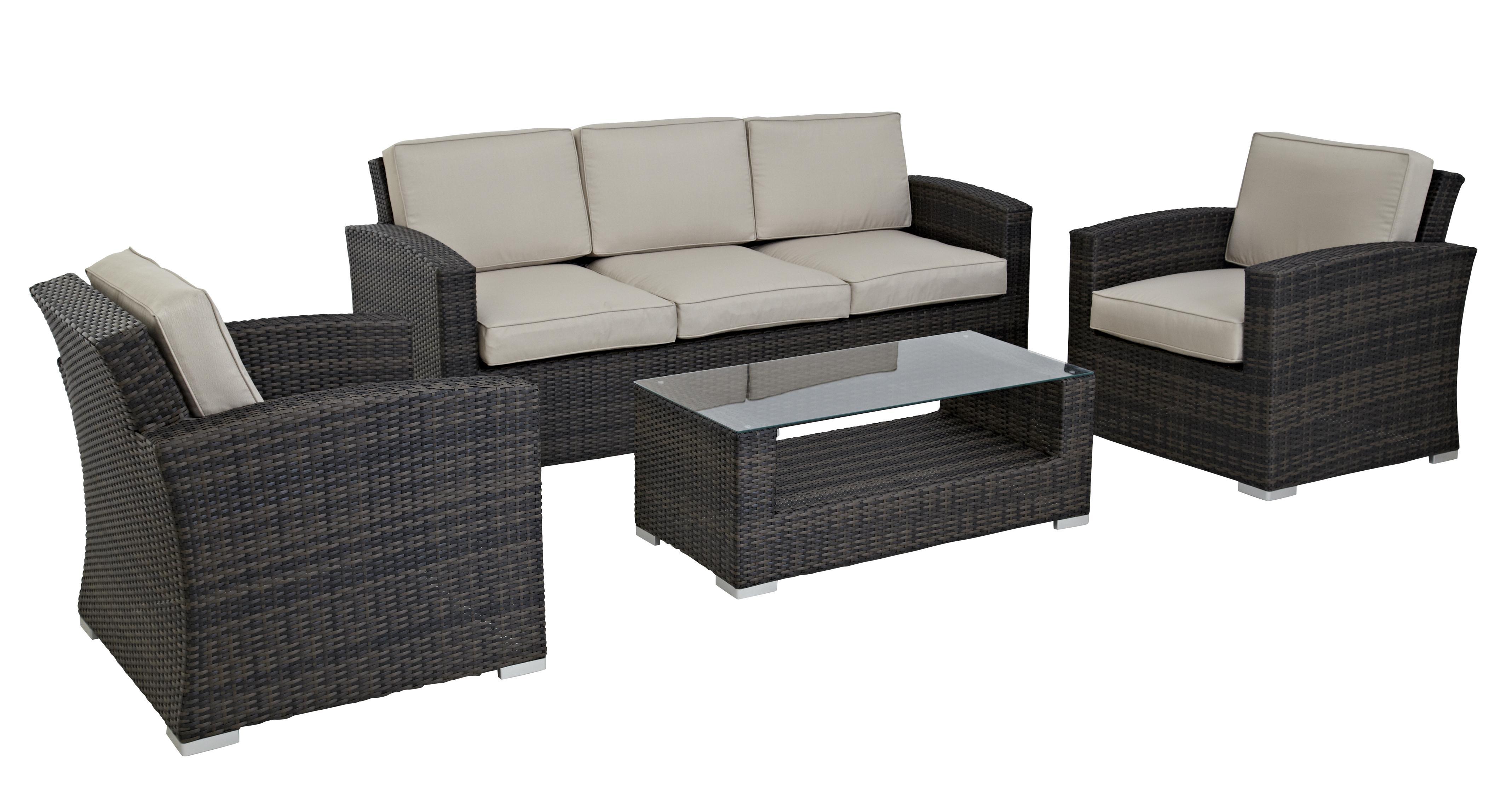 Palma 3 Seater Sofa Set PU Rattan