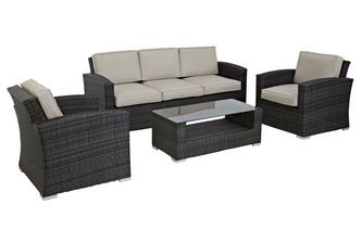 Palma 3 Seater Sofa Set PU Rattan