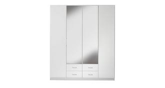 Palm Bay 4 Door Bi Fold Mirror Robe