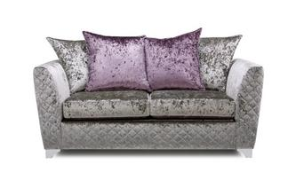 Panache 2 Seater Pillow Back Deluxe Sofa Bed Krystal