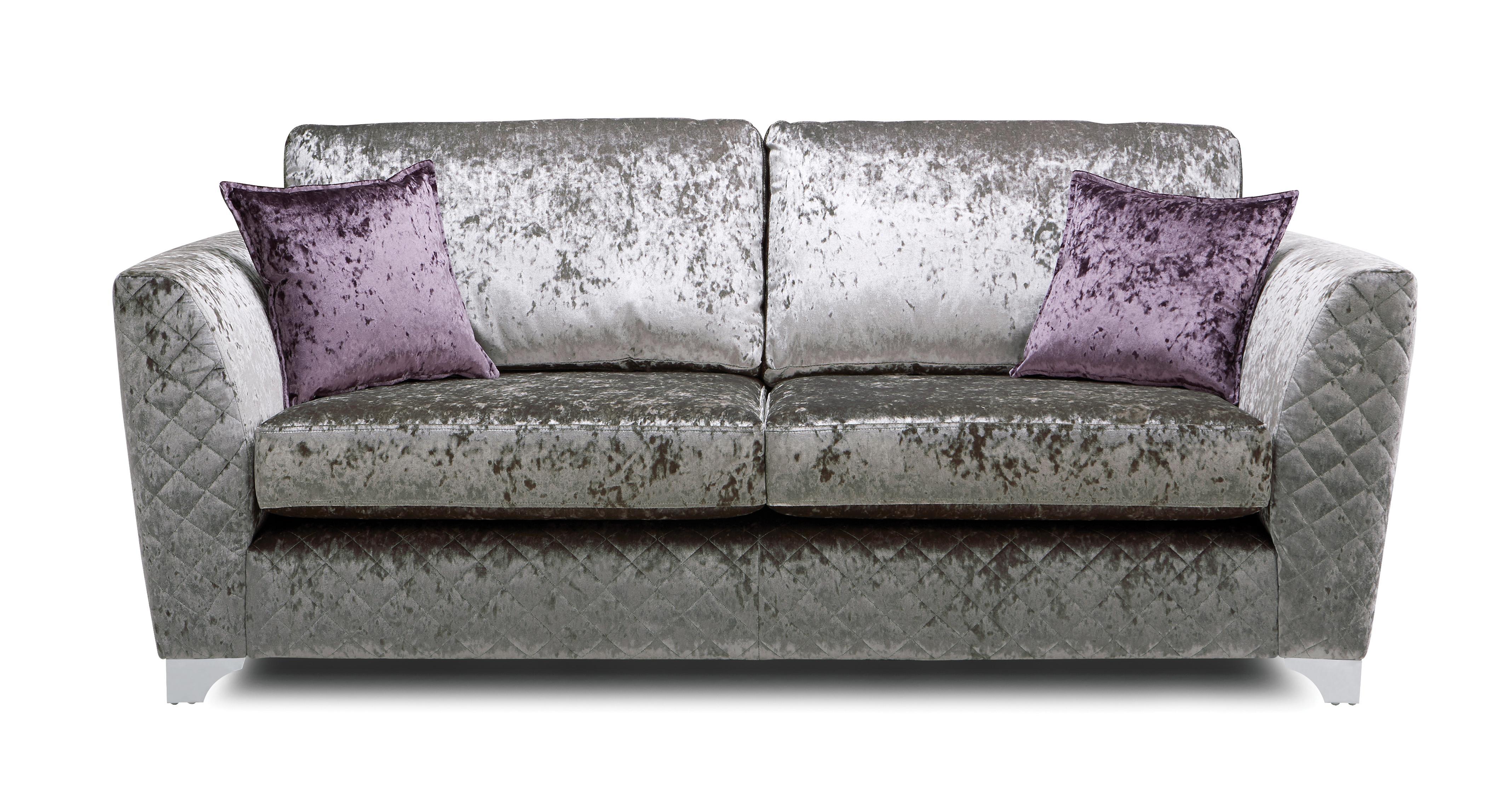 Panache 3 Seater Formal Back Sofa Krystal   DFS