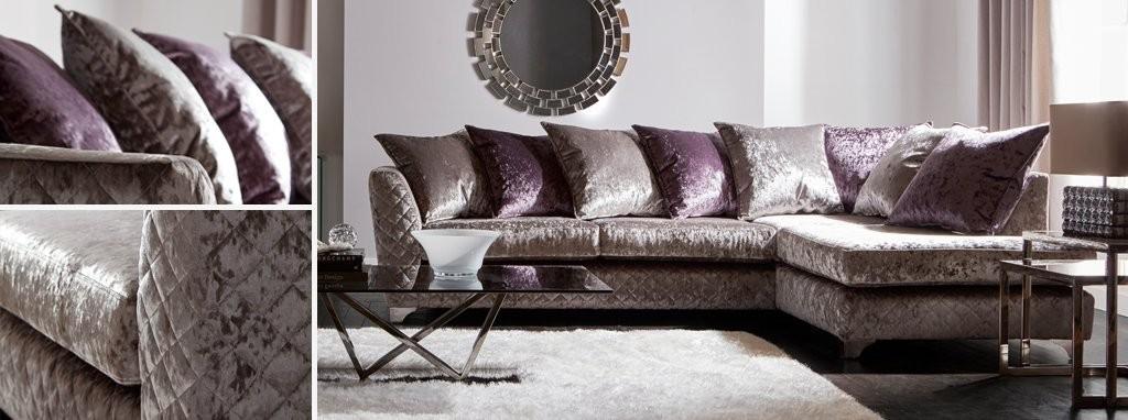 Panache Left Hand Facing Pillow Back Corner Sofa Krystal   DFS