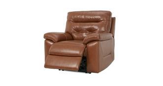 Paradise Leder en lederlook Handbediende recliner stoel
