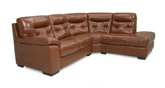Paradise Leather and Leather Look Left Hand Facing Arm 2 Piece Corner Sofa