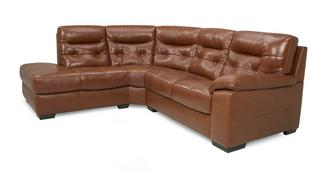 Paradise Leather and Leather Look Right Hand Facing Arm 2 Piece Corner Sofa