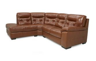 Leather and Leather Look Right Hand Facing Arm 2 Piece Corner Sofa Brazil with Leather Look Fabric