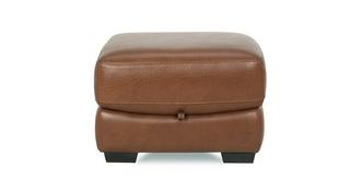 Paradise Leather and Leather Look Storage Footstool