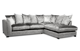 Pillow Back Left Hand Facing Arm 3 Seater Open End Corner
