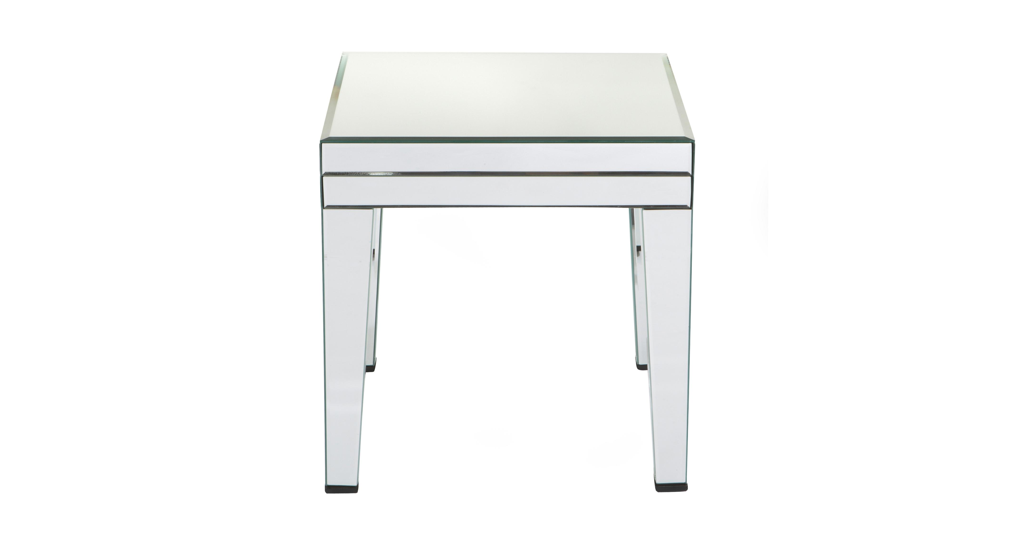 Paradox Mirrored Lamp Table Mirrored Glass | DFS