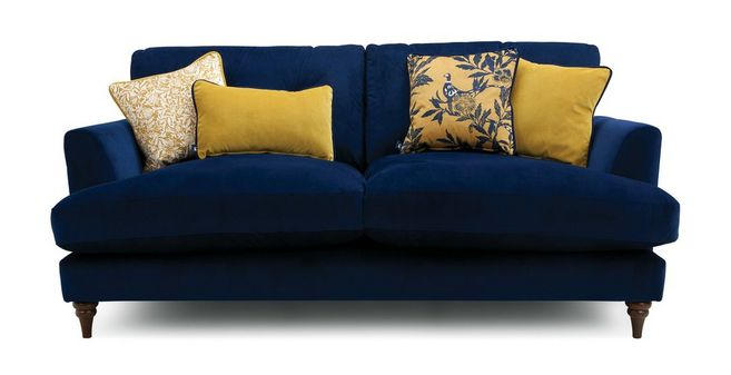 Wondrous Patterdale Velvet 3 Seater Sofa Machost Co Dining Chair Design Ideas Machostcouk