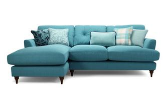 Left Hand Facing Small Chaise Sofa Patterdale Plain