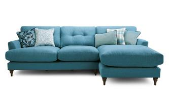 Right Hand Facing Large Chaise Sofa Patterdale Plain