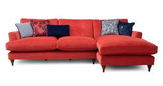 Patterdale Velvet Right Hand Facing Large Chaise Sofa