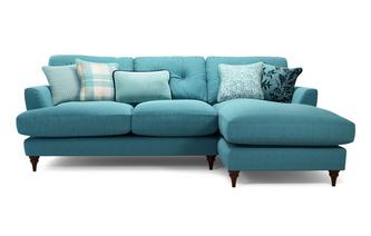 Right Hand Facing Small Chaise Sofa Patterdale Plain