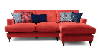 Patterdale Velvet Right Hand Facing Small Chaise Sofa