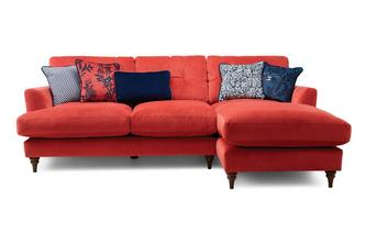 Velvet Right Hand Facing Small Chaise Sofa Patterdale Velvet