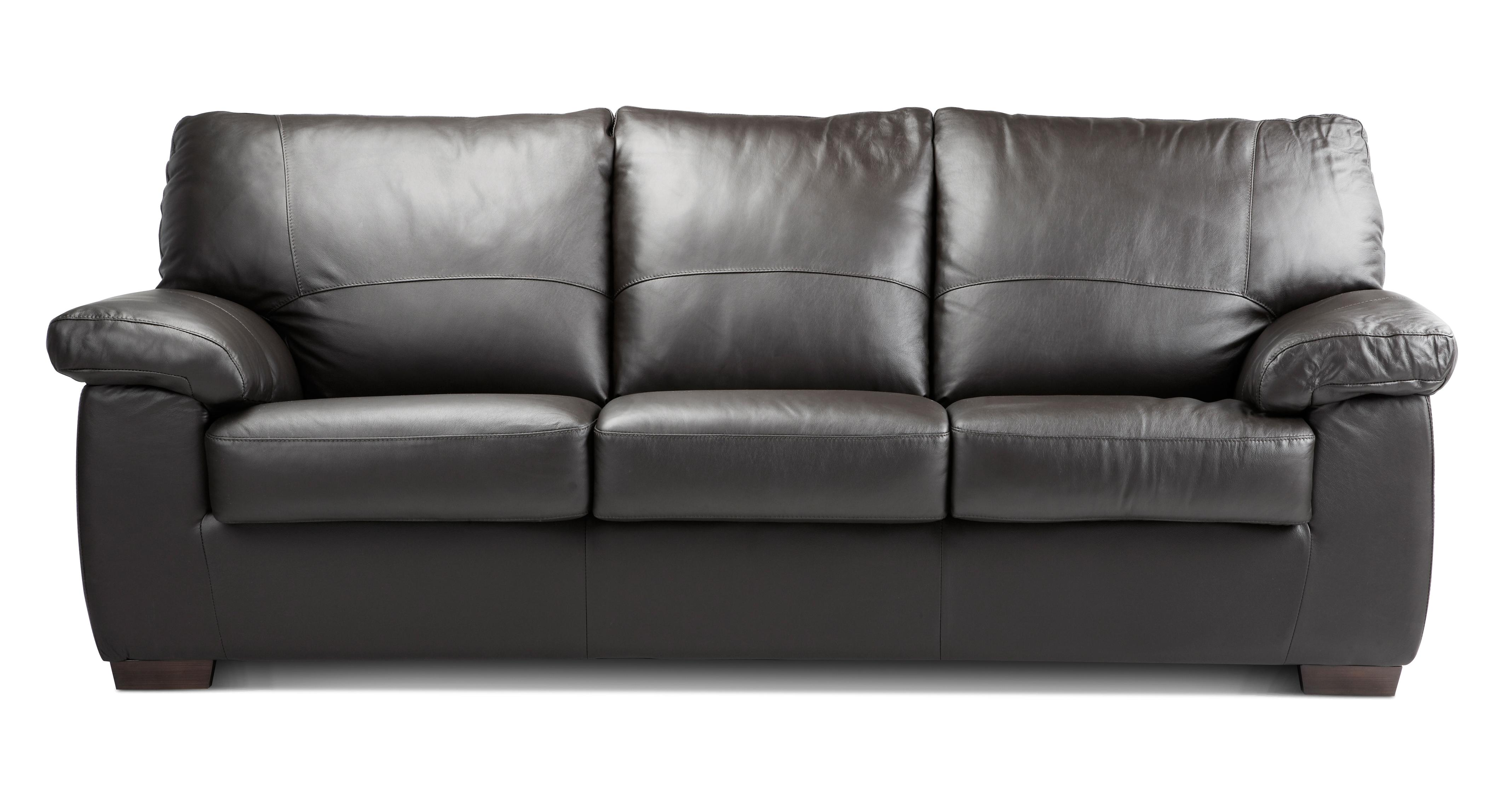 Pavilion Leather and Leather Look 3 Seater Deluxe Sofa Bed