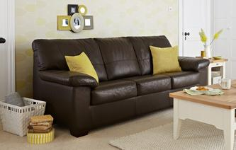 Superb Pavilion Leather And Leather Look 3 Seater Deluxe Sofa Bed Essential