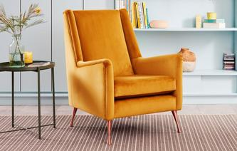 Peace Accent Chair Velvet Capsule Collection