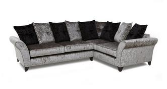 Pearl Left Hand Facing 2 Seater Pillow Back Corner Sofa