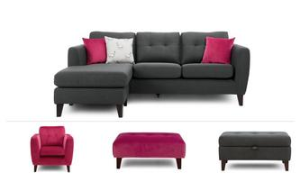 4 Seater Lounger Sofa, Chair & 2 Stools