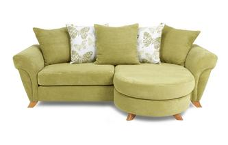 4 Seater Pillow Back Lounger Sofa