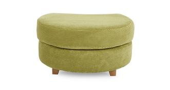 Pennie Half Moon Footstool