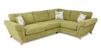 Pennie Left Hand Facing 3 Seater Formal Back Corner Sofa