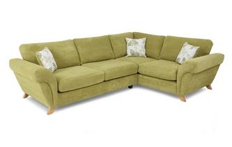 Left Hand Facing 3 Seater Formal Back Corner Sofa Pennie