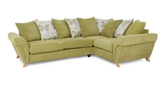 Pennie Left Hand Facing 3 Seater Pillow Back Corner Sofa