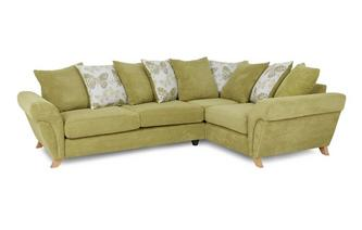 Left Hand Facing 3 Seater Pillow Back Corner Sofa Pennie