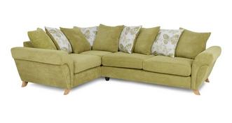 Pennie Right Hand Facing 3 Seater Pillow Back Corner Sofa