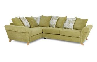 Right Hand Facing 3 Seater Pillow Back Corner Sofa Pennie