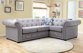 Corner sofas in both leather fabric dfs for Phoebe corner sofa