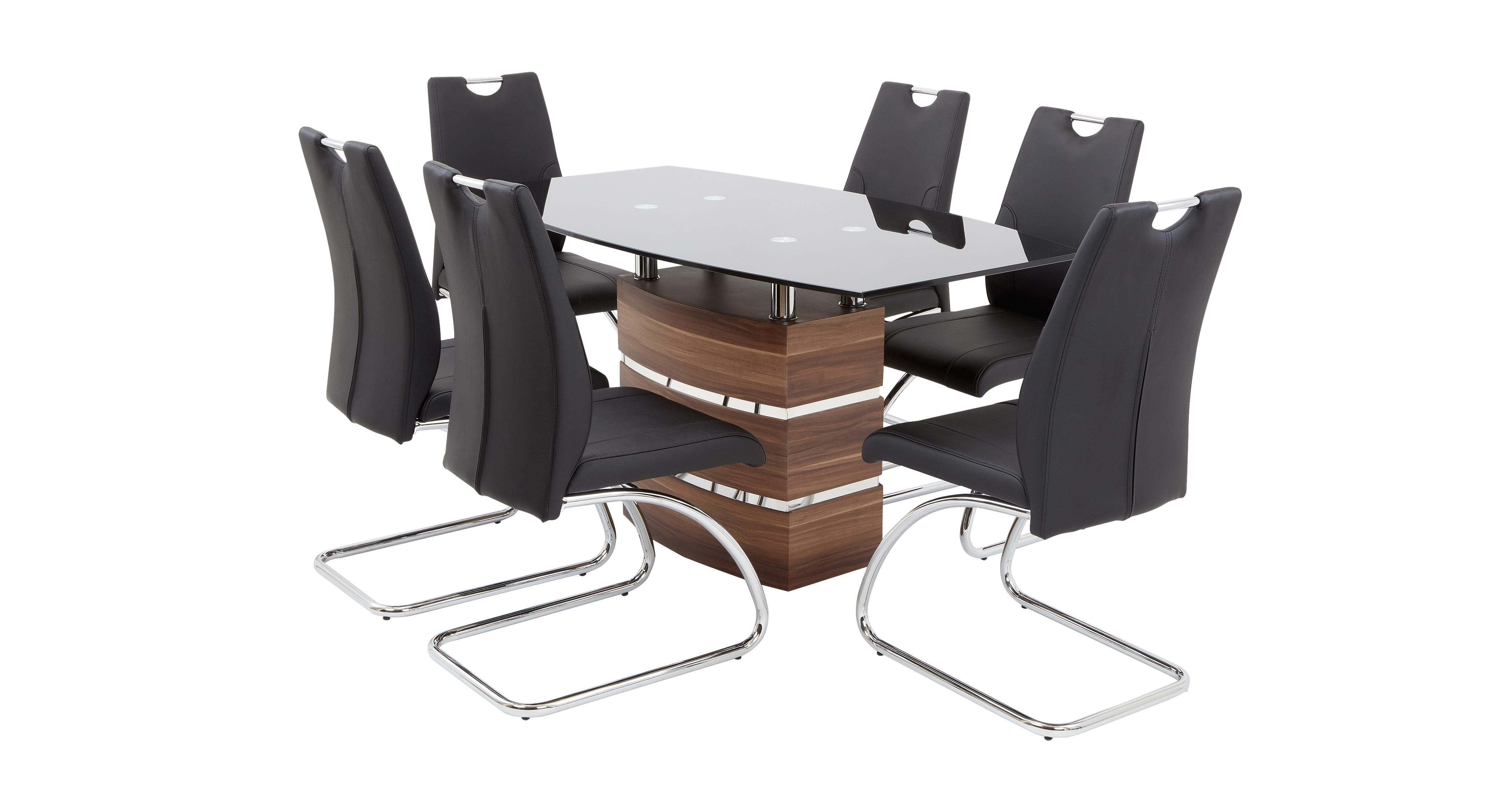 Phoenix Fixed Dining Table And 4 Cantilever Chairs Dfs