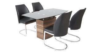 Phoenix Vaste eettafel en 4 stoelen