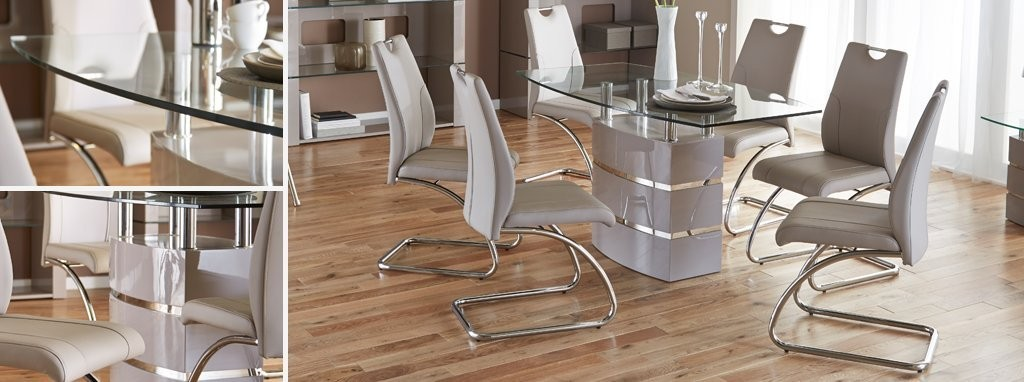 piatto fixed dining table and 4 chairs | dfs