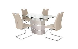 Fixed Dining Table and 4 Chairs Piatto