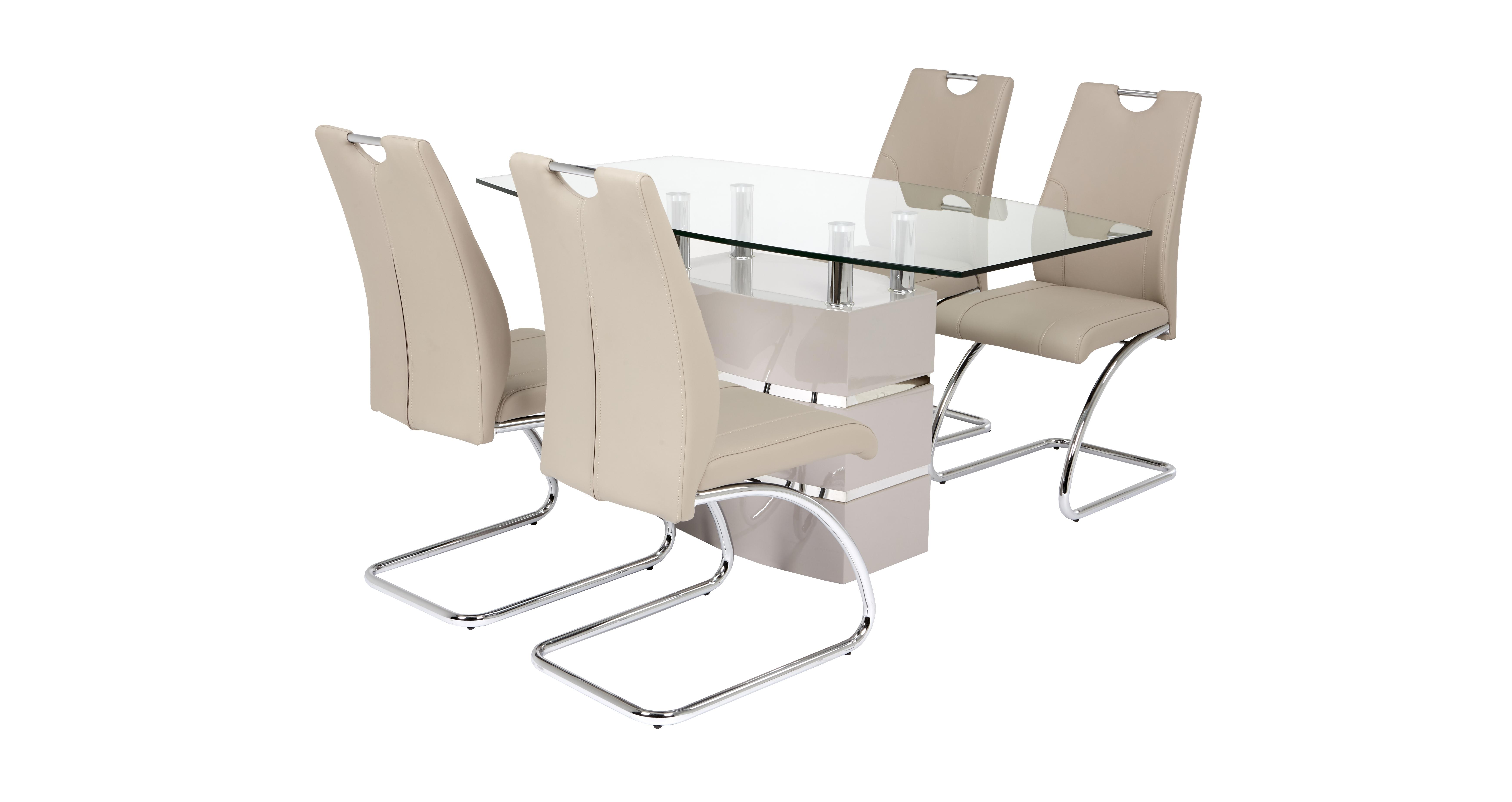 Piatto Fixed Dining Table And 4 Chairs Dfs Ireland