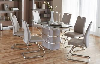Elegant GXD Piatto Fixed Dining Table And 4 Chairs Piatto Iconica