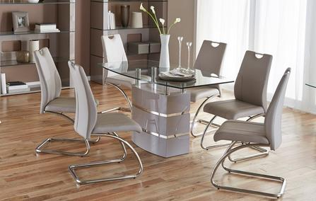 Piatto Fixed Dining Table And 4 Chairs