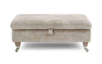 Textured Rectangular Storage Footstool
