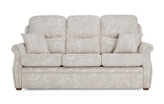 Fabric B 3 Seater Formal Back Fixed Sofa