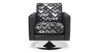 Pioneer Pattern Small Swivel Chair