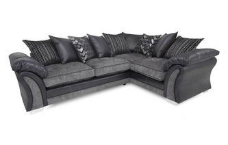 Left Hand Facing Pillow Back 3 Seater Corner Sofa Pioneer