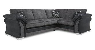 Pioneer Left Hand Facing Formal Back Deluxe Corner Sofa Bed
