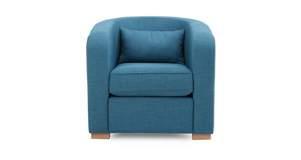 Pizzazz Accent Chair with Plain Bolster
