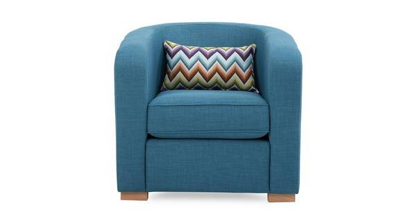 Pizzazz Accent Chair with Pattern Bolster